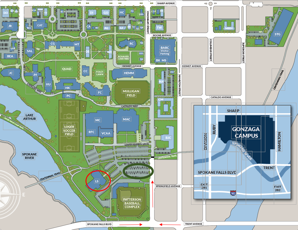 GU Law School map